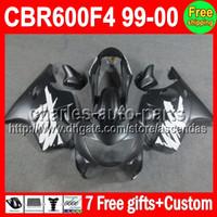 ALL Flat black 7gifts For HONDA CBR600F4 99- 00 CBR600 F4 C#L...
