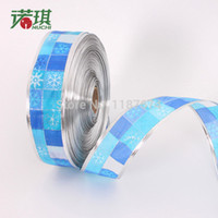 Wholesale 2000 cm blue print paragraph ribbon divisa ribbon christmas tree decoration