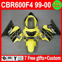 7gifts For HONDA CBR600F4 99- 00 Stock yellow CBR600 F4 C#L42...