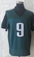 Wholesale #9 Nick Foles Green Elite Football Jerseys 2014 Ne...