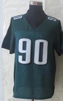 Wholesale Green 90 Marcus Smith Draft Elite Football Jerseys...