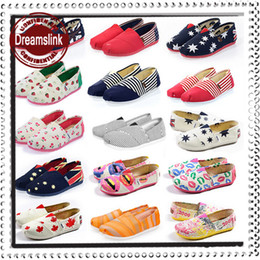 Wholesale Autumn Spring Lazy shoes driver sneaker cozy canvas mummy shoes foot walker footwear women USA UK flags school shoes lady styles