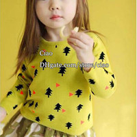 Wholesale Child Autumn Wool Sweaters Girls Pullover Children Sweater Pullover Kids Pullover Korean Christmas Girl Dress Children Clothes Kids Clothing