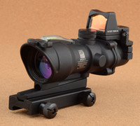Wholesale Trijicon ACOG x32 Green Optical Fiber Red Dot Riflescope With Markings M9986 Tactical Hunting Shooting