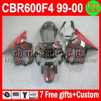 7gifts For HONDA CBR600F4 99- 00 CBR600 F4 Red flames C#L435 ...