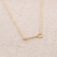 Pendant Necklaces arrow gold necklace - 10pcs Gold and Silver Arrow Necklace brass necklace XL003