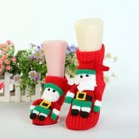 Wholesale Winter Christmas socks adult floor socks thickening women s slip resistant thermal cartoon gift knitted wool socks