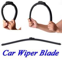 Wholesale Universal U type Soft Frameless Bracketless Rubber Car Wiper Blade Windshield Windscreen With all Size f