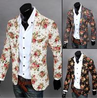 Wholesale Men New Arrive Fashion Suit Hot Sell Casual Suit Men Printing Suit Personality Lapel Suit Men Slim Fit Suit