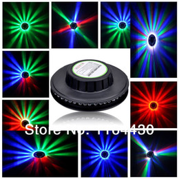 Wholesale NEW Fashionable Acoustic sound control voice activated LEDs RGB Rotating LED Ceiling Lampa Lights Lamp for Disco Bar HOT