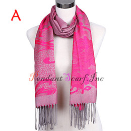 Wholesale New Style Pashmina Scarf Women s Fashion Floral Soft Long Tassel Scarf Warm Shawl Wrap Colors Available SC0039