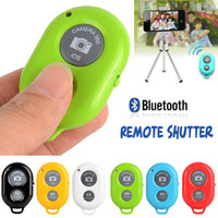 Wholesale Self timer Wireless Camera Bluetooth Remote Shutter Controller For iPhone S IOS Samsung S5 HTC Sony Android System Smartphone