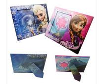 Wholesale Frozen Photo Frames New Frozen Movie Princess Kids Paper ANNA Eksa photo frame x16 CM Pictures Frame Children s Gift