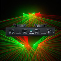 Red Auto 110V Wholesale-Free Shipping 4 Lens GREEN+RED DSPP Laser Light PRO edtion DMX Sound Active Master-Slave DJ Disco Club Christmas Light(CTL-DC+)