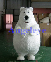 Unisex animal fats - Mascot Fast Stock Product fat polar bear mascot costume for kids party Adult Size Polar Bear Animals Mascotte Outfit Suit Free ship SW99