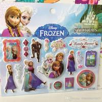 Wholesale New Frozen Sticker cm g Coated Paper D PVC Cat Eye Frozen Elsa Anna Sponge Stickers Frozen Olaf