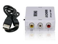 Wholesale RCA AV to HDMI Converter Adapter Mini Composite CVBS to HDMI AV2HDMI Converter in Retail Package P