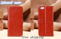 Wholesale Supply of new iphone6 i6 phone holster leather protective sleeve iphone case six card phone shell Apple g DHL