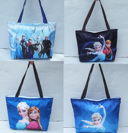 Wholesale Frozen Elsa Anna Princess cm cm cm waterproof Mummy Shopping bag Beach shoulder bag school bags