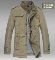 Wholesale Brand New Winter Men Slim Designed Stylish Men cotton Trench Coat