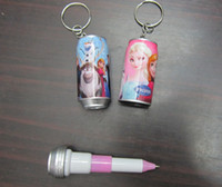 Wholesale New FROZEN scaling Ballpoint Pen Keychain Fashion Design Pens Children Student Pen High quality