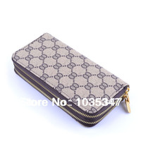 Wallets unisex PU spring 2014 Lowest Price Cheap Promotion Hot New Fashion Brand Designer Leather Wallets Purse Handbags Clutch Bags