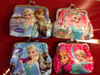 Wallets 3d holiday gifts - Girls D Cartoon Frozen Coin Purse with iron button Anna Elsa Olaf shell bag wallet Purses children child Gifts For Holidays Christmas pc