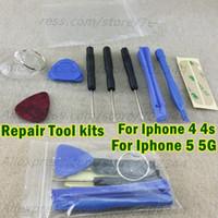 achat en gros de pentalobe ensemble-9 en 1 Trousse d'outils d'ouverture de réparation Avec 5 Étoile Pentalobe tournevis Torx Crowbar Prytool Outils d'ouverture Kits Set pour iPhone 4 4S 5 5S 5C