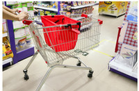 Folding Plain Canvas SMILE MARKET FREE SHIPPING 1piece lot Large capacity Foldable Trolley Supermarket Green Shopping Bag