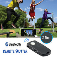 Wholesale Bluetooth Remote Shutter Camera Self timer Release Control for iPhone S S iPad Andriod Samsung Galaxy S3 S4 S5 Note HTC