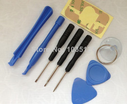 Repair Pry Kit Opening Tools With 5 Point Star Pentalobe Torx Screwdriver Open Tool Kits Set 9 in 1 For iPhone 4 4S 5 5S 5C