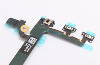 Wholesale Ribbon Flex Cable for iPhone s c Power Mute Button Volume Silent Switch on off Repair Cord Replacement Part Parts