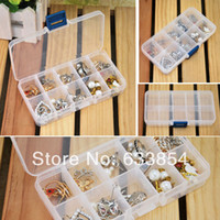 Plastic Bedding Eco Friendly Newest Storage Case Box Holder Container Pills Jewelry Nail Art Tips 10 Grids organizer Free shipping &wholesale