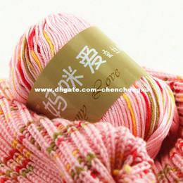 Wholesale Mommy loves silk protein coarse wool infants children milk cotton baby crochet wool line Yarn