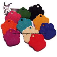 anodized aluminum products - Top sale paw shaped aluminum dog pet tags anodized aluminum pet id tags pet products