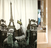shower curtain - Thickening Pattern Paris Eiffel Tower Shower Curtain Waterproof EVA Eco friendly Bathroom Curtain cm cm