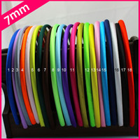 Wholesale 8mm Width Colors Top Quality Adult Kids Satin Headbands Children Ribbon Headbands Hair Band