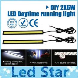 Ultra Bright 6W 17 centímetros de prata / preto Shell Daytime Running luz 100% impermeável COB Dia luzes de tempo LED Car DRL Driving Lamp