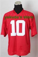 Wholesale #10 Eli Manning Red Elite American Football Jersey...
