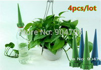 Wholesale 1set4pcsGarden Cone Spike Watering Plant Flower Waterers Bottle Irrigation System