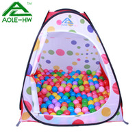 Tents Animes & Cartoons Polyester Outdoor AOLE-HW Kid Tent Children's Play Tent Round Dot Double Zipper Door Mini Play Home for Kids Baby Toys House for Children