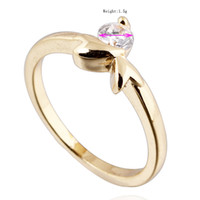 Wholesale Chic K Gold White Gold Plated Ring Artificial Gemstone Jewelry designs US