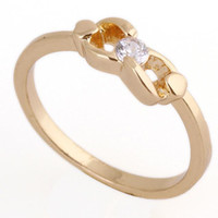 Band Rings 14k gemstone ring - Chic K Gold White Gold Plated Ring Artificial Gemstone Jewelry designs US