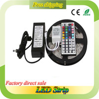 Wholesale RGB LED Strip M LEDs LEDs m Samsung Chip Warranty Years IP65 Waterproof RGB Strip LED Adapter Remote