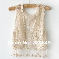 Wholesale Bohemian embroidery hollow fringed shawl vest