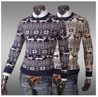 Wholesale 2014 autumn fall winter new men s Sweaters Korean man Slim fit casual knitted Sweater pullover coats outwear knitwear men s clothing