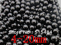 Wholesale ABS Black Color Pearl Imitation Round Beads mm For Fashion Jewelry Making W3627
