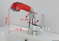 Wholesale pull out Bathroom sink faucet Bidet faucets red chrome green black white colors shower faucet