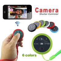 Wholesale Wireless Bluetooth Remote Camera Shutter Control Self timer For iPhone iPod iPad IOS Samsung HTC Sony Huawei Android Cell Phones