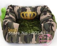 Wholesale 5pcs Pet Beds Embroidery Elizabeth crown warm dog thickening sofa luxury Dog nest house warm mat beds leopard